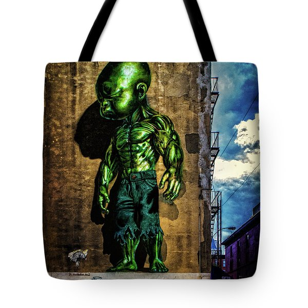 Tote Bag featuring the photograph Baby Hulk by Chris Lord