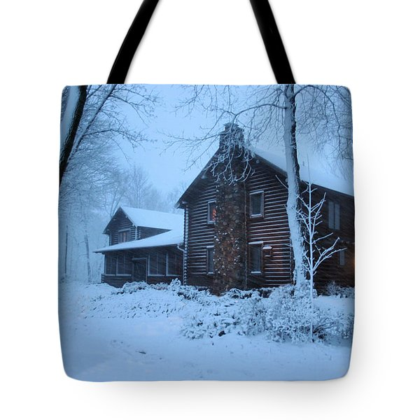 Baby Its Cold Outside Tote Bag by Kristin Elmquist