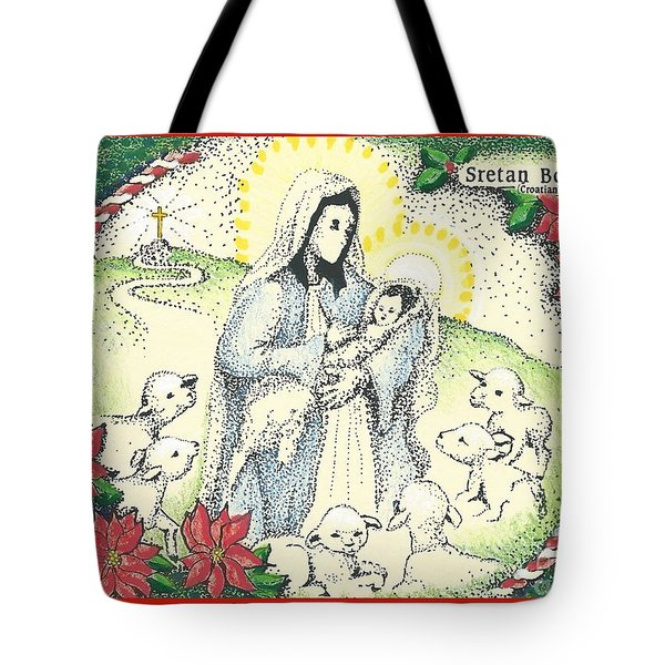 Baby Jesus In Medjugorje Tote Bag
