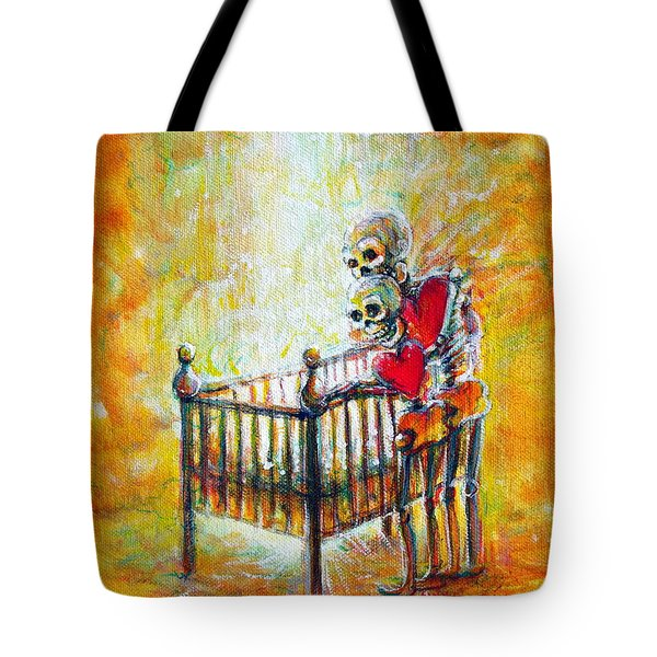 Tote Bag featuring the painting Baby Love by Heather Calderon