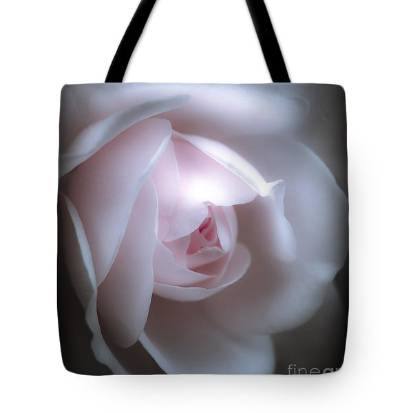 Baby Pink Rose Tote Bag by Karen Lewis