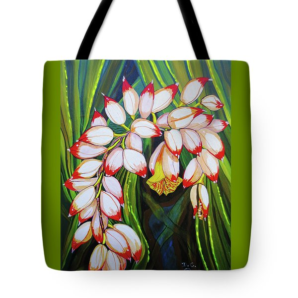 Baby Pink Shell Ginger Tote Bag by Debbie Chamberlin