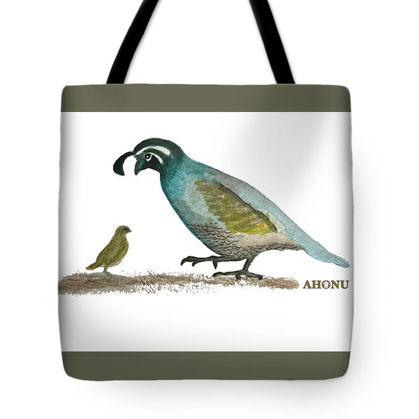 Baby Quail Learns The Rules Tote Bag