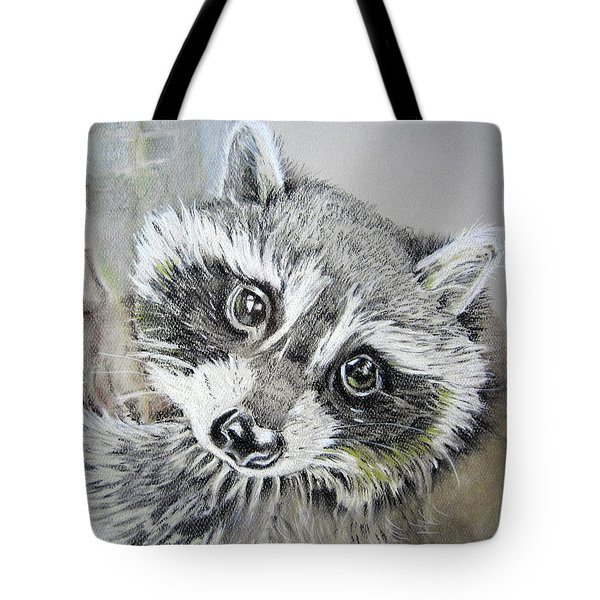 Baby Raccoon Tote Bag