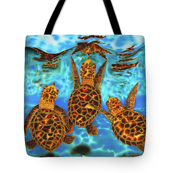 Baby Sea Turtles Tote Bag