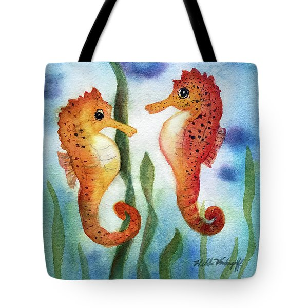 Baby Seahorses Tote Bag