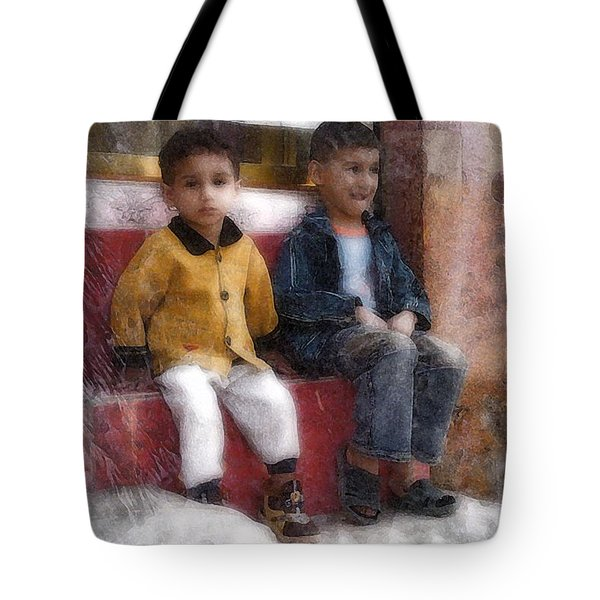 Tote Bag featuring the digital art Baby Steps 4 by Kate Word