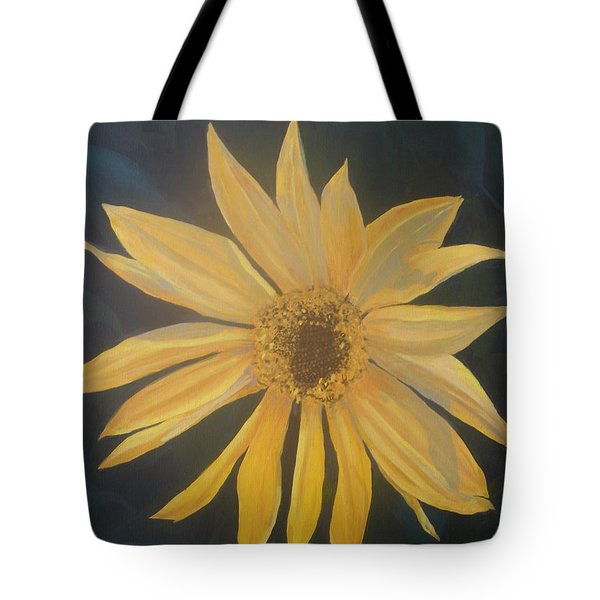 Tote Bag featuring the painting Baby Sunflower by Betty-Anne McDonald