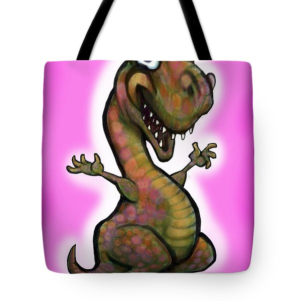 Baby T-rex Pink Tote Bag by Kevin Middleton