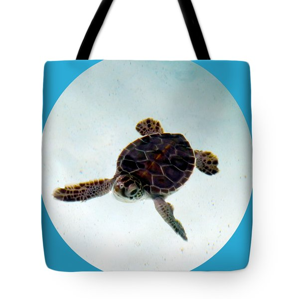 Tote Bag featuring the photograph Baby Turtle by Francesca Mackenney