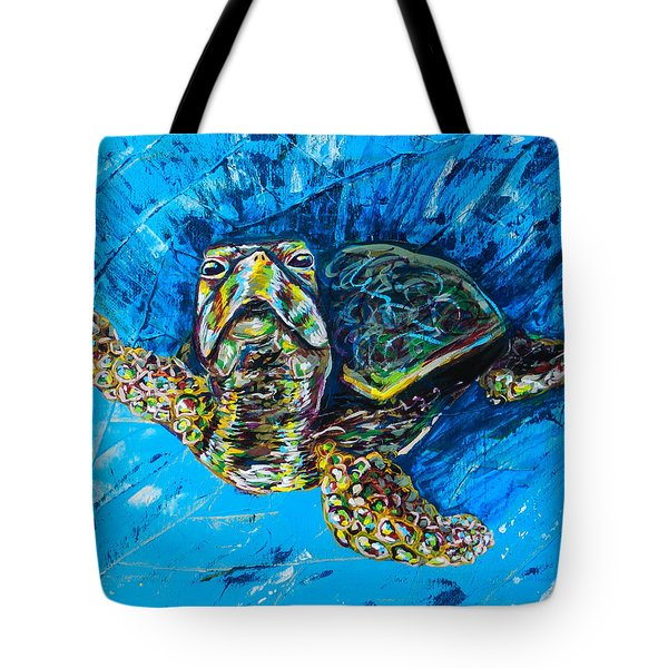 Baby Turtle Tote Bag by Lovejoy Creations