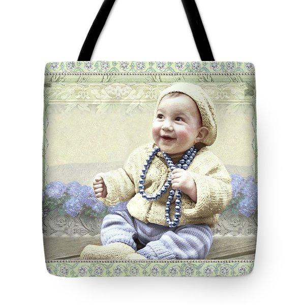 Baby Wears Beads Tote Bag