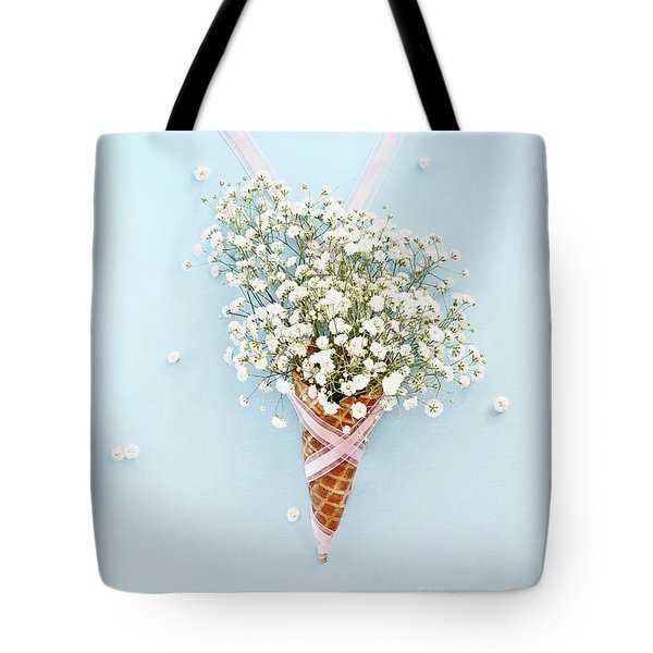 Baby's Breath Ice Cream Cone Tote Bag