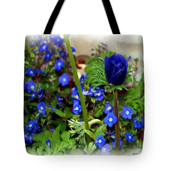 Tote Bag featuring the painting Babys Got The Blues by Patricia Griffin Brett