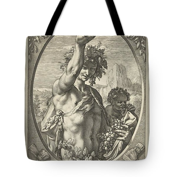 Bacchus God Of Ectasy Tote Bag by R Muirhead Art