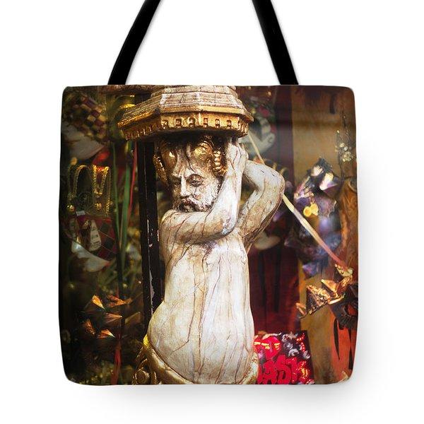Bacchus In Venice Italy  Tote Bag