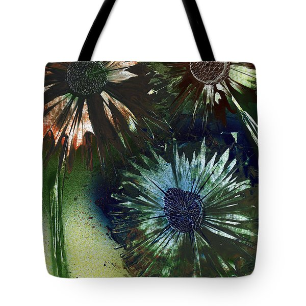 Bachelor Button Trio Tote Bag