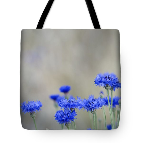 Bachelors Buttons Flowering Tote Bag