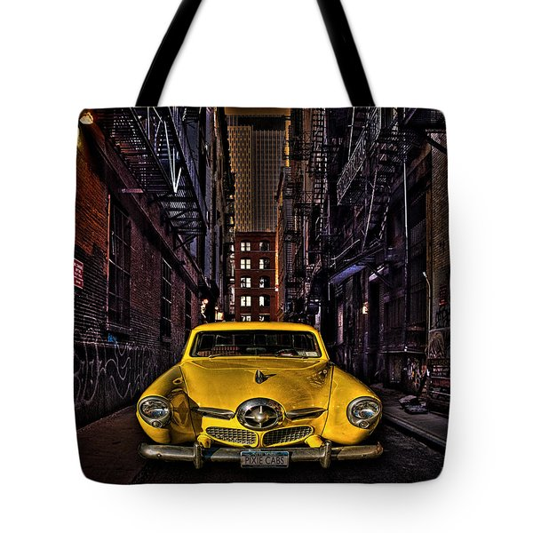 Back Alley Taxi Cab Tote Bag