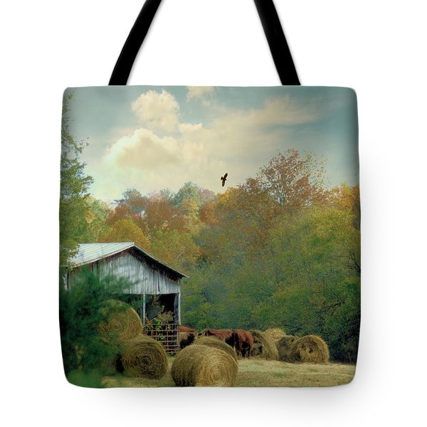 Back At The Barn Again Tote Bag by Jan Amiss Photography