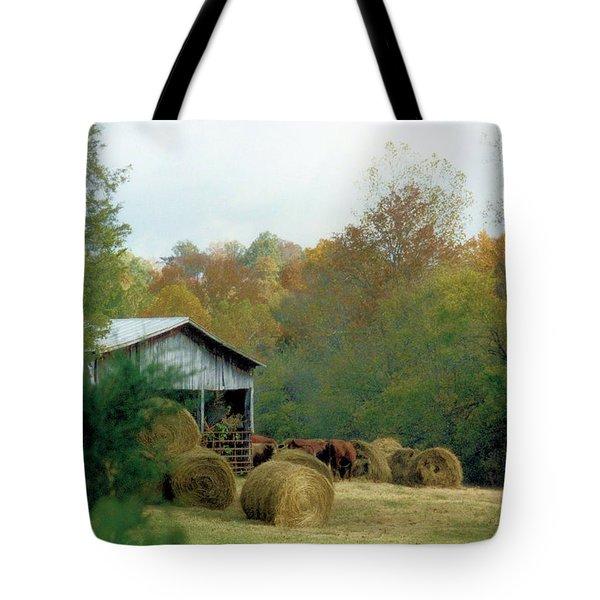 Back At The Barn Tote Bag by Jan Amiss Photography