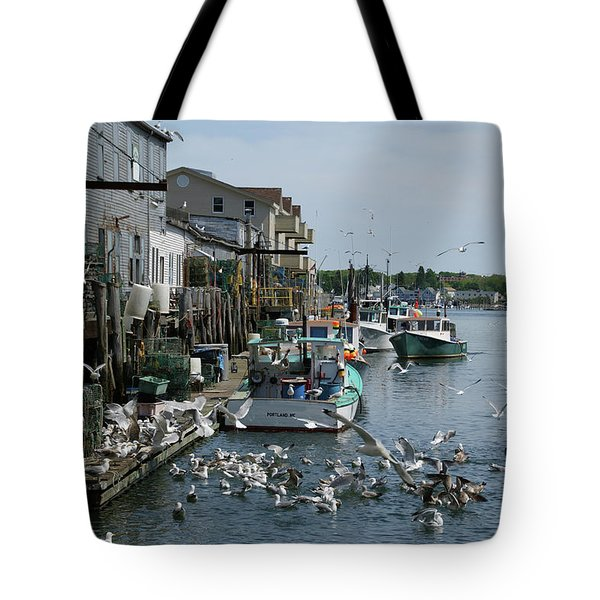 Tote Bag featuring the photograph Back At The Dock by Lynda Lehmann