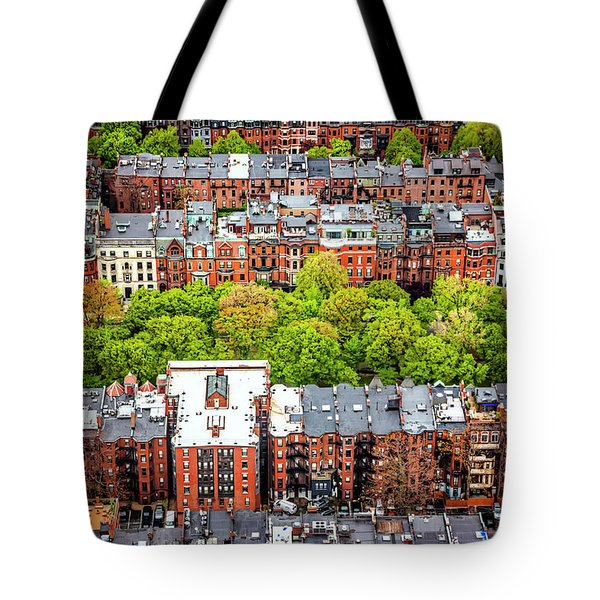 Tote Bag featuring the photograph Back Bay Boston  by Carol Japp