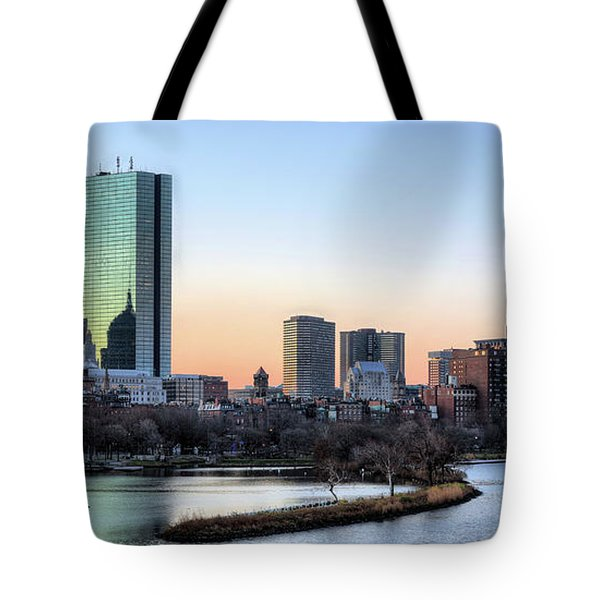 Back Bay Sunrise Tote Bag by JC Findley