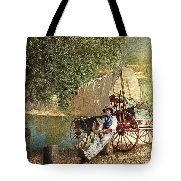 Tote Bag featuring the photograph Back Country Camp Out by Rhonda Strickland
