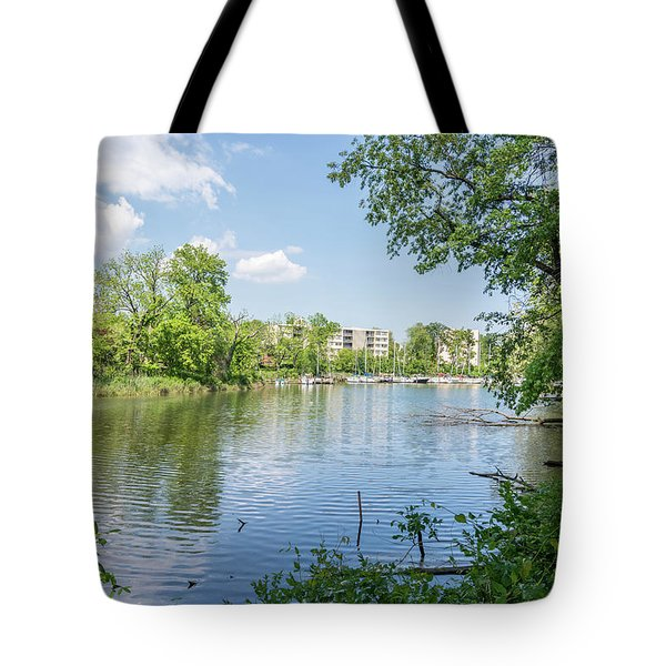 Tote Bag featuring the photograph Back Creek At Severn House by Charles Kraus