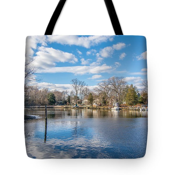 Tote Bag featuring the photograph Back Creek by Charles Kraus