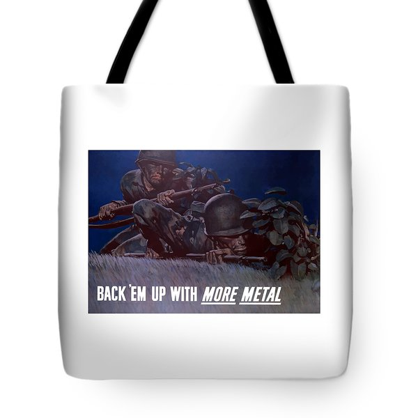 Back 'em Up -- Ww2 Tote Bag