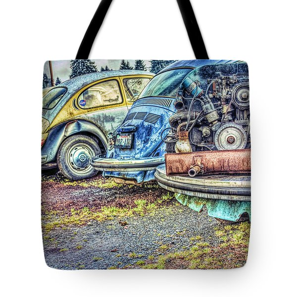 Tote Bag featuring the photograph Back End Bugs by Jean OKeeffe Macro Abundance Art