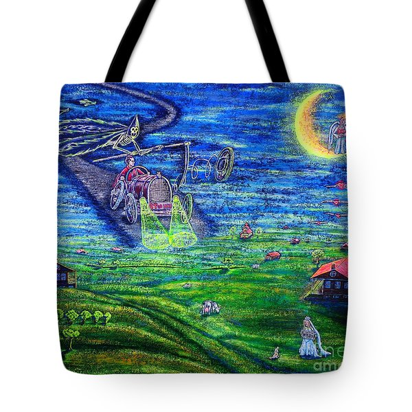 Tote Bag featuring the painting Back Home by Viktor Lazarev