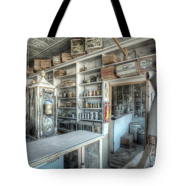 Back In 5 - The General Store, Bodie Ghost Town Tote Bag