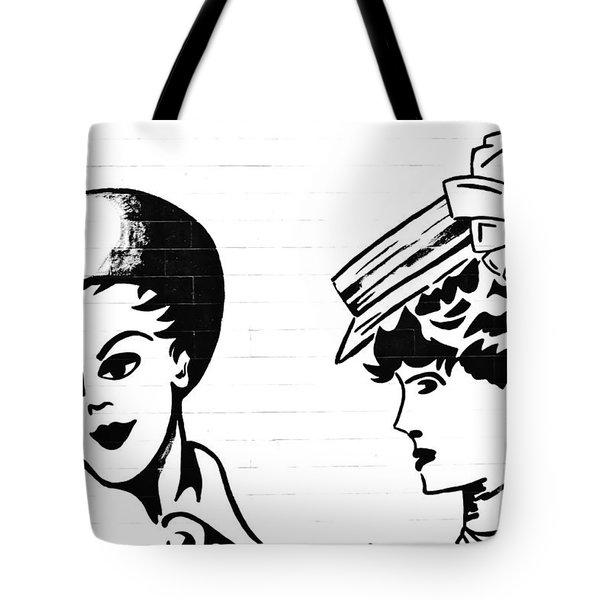 Back In Twenties Mural Tote Bag