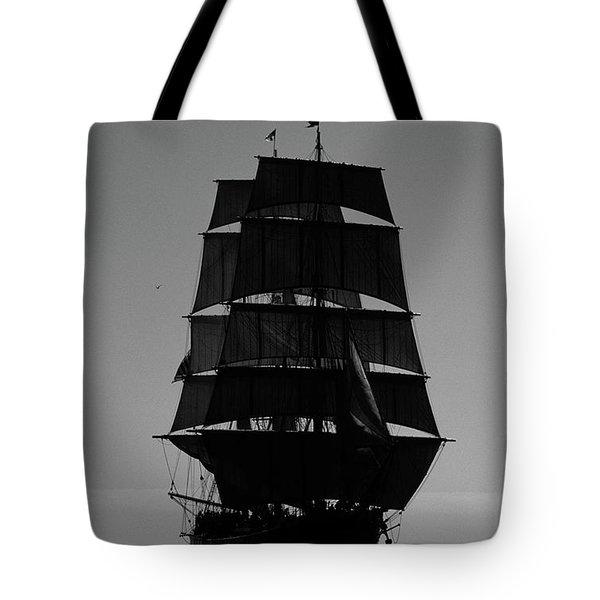 Back Lit Tall Ship Tote Bag