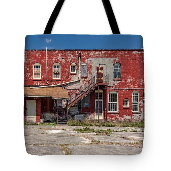 Tote Bag featuring the photograph Back Lot by Christopher Holmes