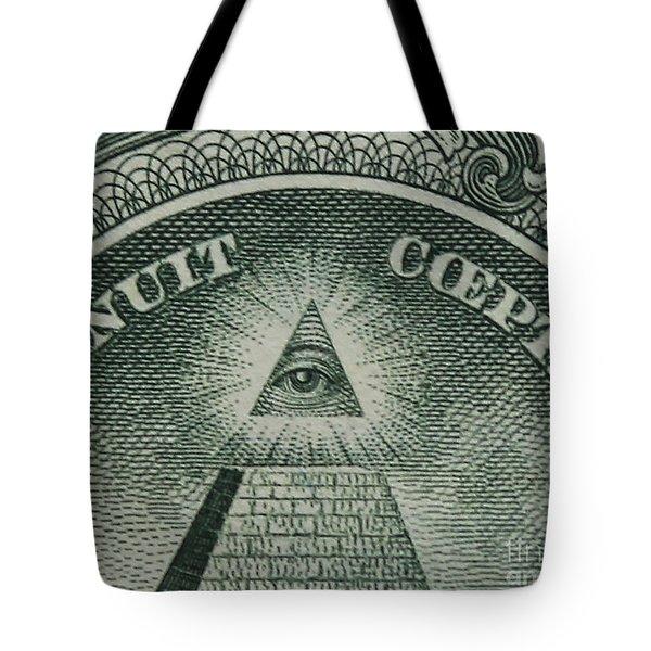 Back Of 1 Dollar Bill Tote Bag