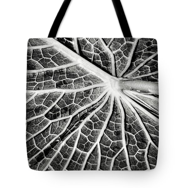 Back Of A Water Lily Pad Tote Bag
