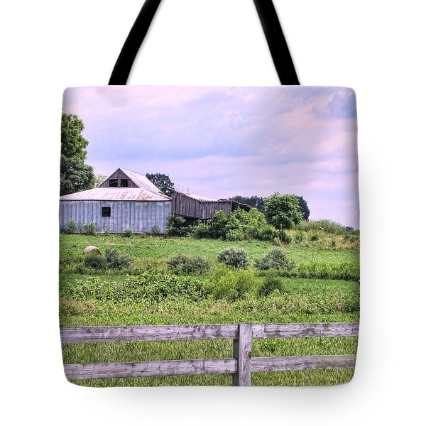 Back Road Barn Tote Bag by Victor Montgomery