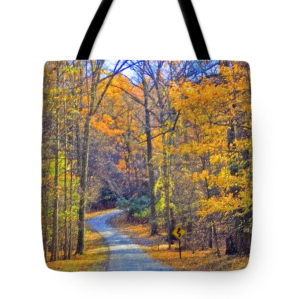 Tote Bag featuring the photograph Back Road Fall Foliage by David Zanzinger
