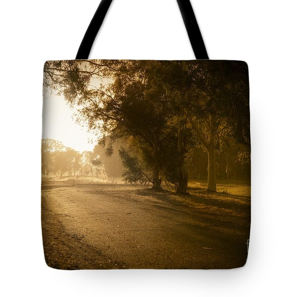 Tote Bag featuring the photograph Back Road Morning by Ray Warren