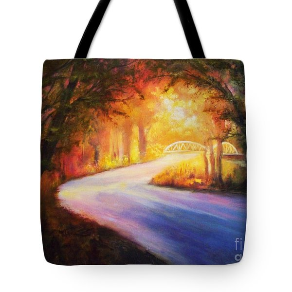 Tote Bag featuring the painting Back Road To Paradise by Karen Kennedy Chatham