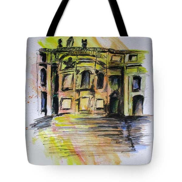 Back Side Basilca St Mary Major Tote Bag