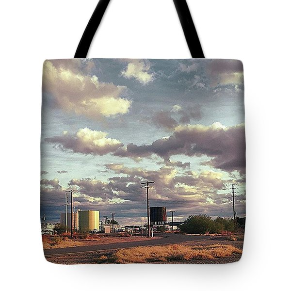 Back Side Of Water Tower, Arizona. Tote Bag