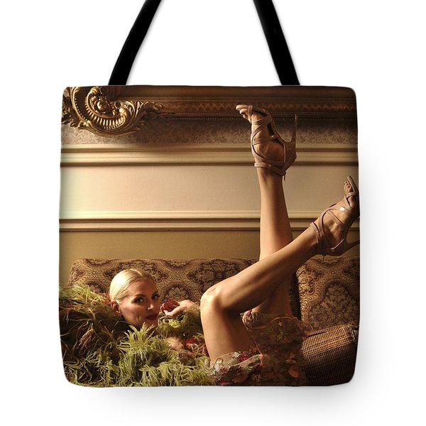 Tote Bag featuring the photograph Back Stage Burlesque by Gregg Cestaro