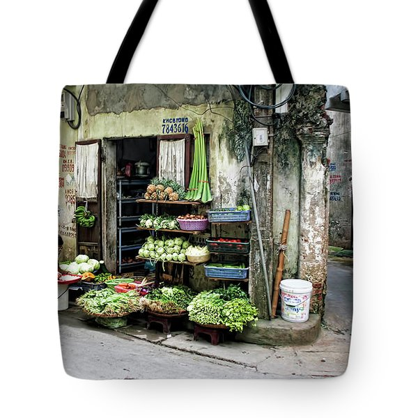 Back Street Veggies Store I Tote Bag