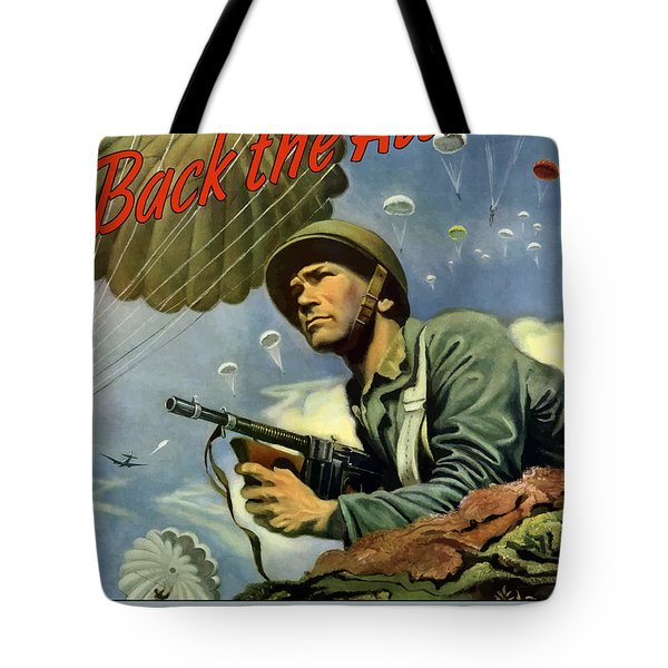 Back The Attack Buy War Bonds Tote Bag