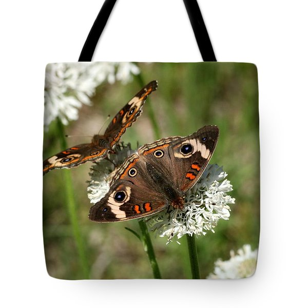 Back To Back Butterflies Tote Bag by Sheila Brown